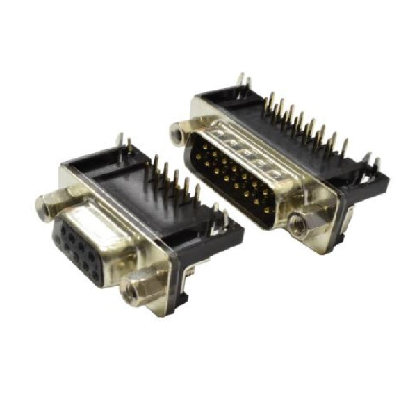 Right Angle PCB Mount D Connectors with European Footprint